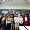 書道を体験した留学生