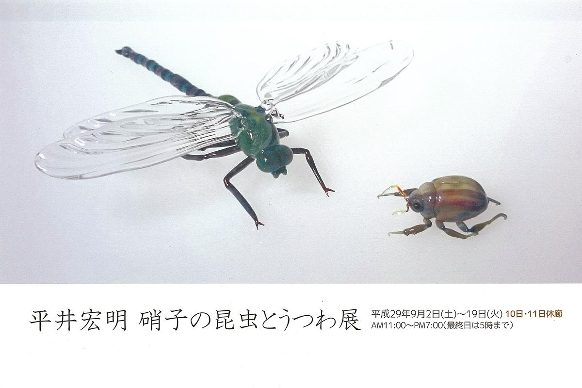 平井宏明 硝子の昆虫とうつわ展