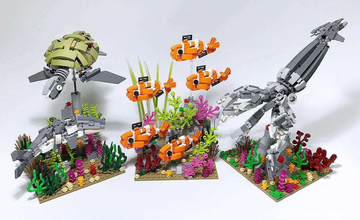 海の生物のLEGO