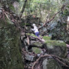 総社市豪渓にて岩場の整備活動