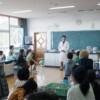 倉敷市立連島東小学校での出前講座