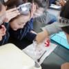 人工いくらを作る小学生