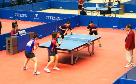 生命医科学科 冨田さんが全日本卓球選手権女子ダブルスに出場しました。