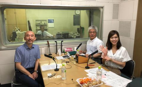 森山学部長がラジオに出演