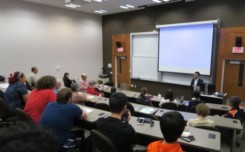 川上講師がアメリカのフィンドレー大学にて講演を行いました。