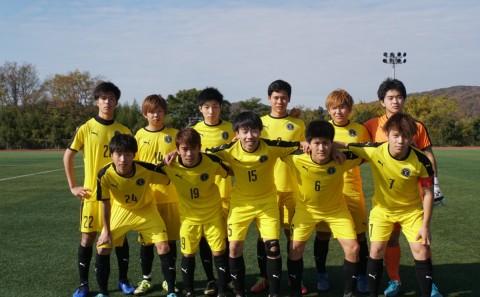 サッカー部が岡山県学生サッカーリーグ1部へ昇格しました(2019.12.21)