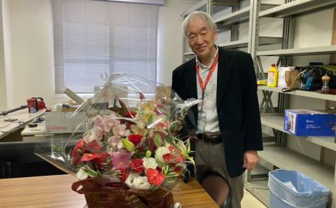 梶浦 文夫教授、お疲れ様でした。